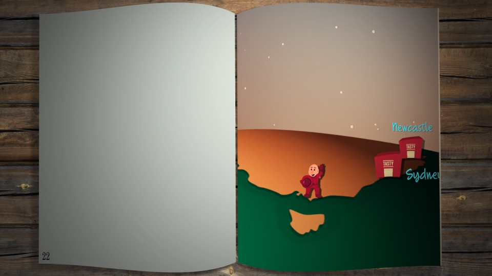 An open book with one page blank, and the other page showing zoomed in visual of After Effects vector sphere without pixelation